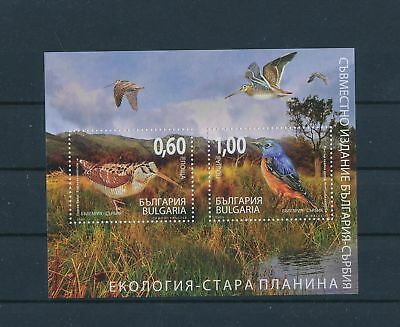 LH25545 Bulgaria animals fauna flora birds good sheet MNH