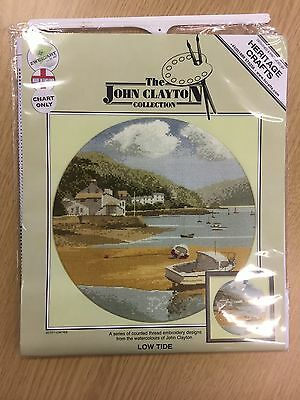 LOW TIDE cross stitch charts HERITAGE CRAFTS  by JOHN CLAYTON