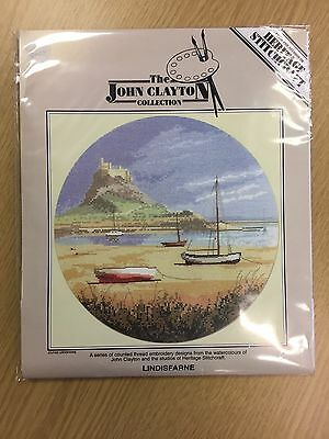 LINDISFARNE cross stitch charts HERITAGE CRAFTS  by JOHN CLAYTON