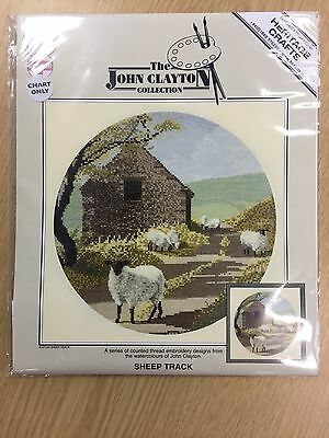 SHEEP TRACK cross stitch charts HERITAGE CRAFTS  by JOHN CLAYTON