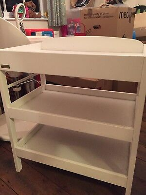 East Coast White Baby Changing Unit Table