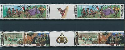 LH23955 Indonesia scouting boy scouts gutter pairs MNH