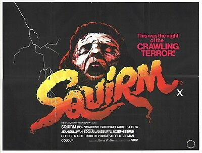 Squirm 1978 British Quad Movie Poster HORROR