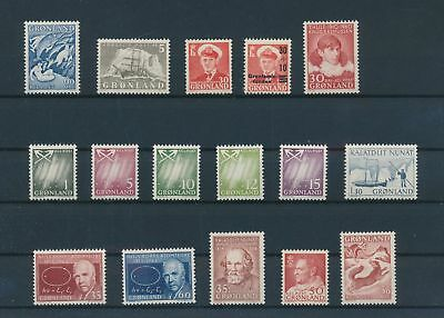 LH23997 Greenland nice lot of good stamps MNH