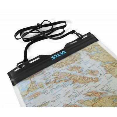 Silva Carry Dry Map Case Waterproof Outdoor Activity Cover Easy Access (Medium)