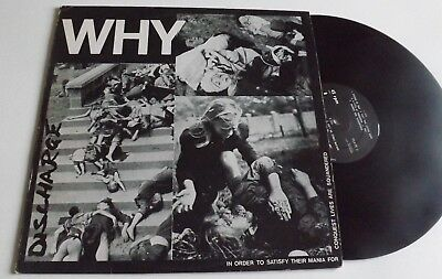 "Discharge Why 12"" Vinyl Plate2 1981"