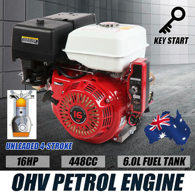 NEW 16HP 448CC Petrol Stationary Engine OHV Motor Electric Recoil Start 6L Tank