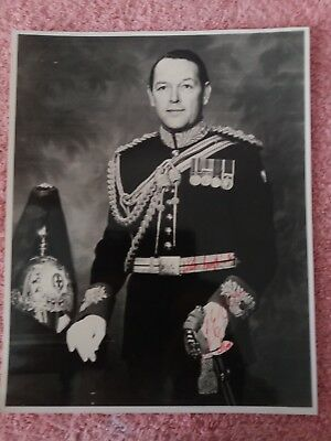 Lt Col George Evans Director of Music Blues and Royals signed Photo