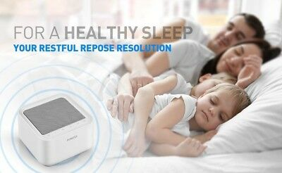 Avantek Sleep White Noise Machine 20 Soothing Natural Sounds Therapy Relaxation