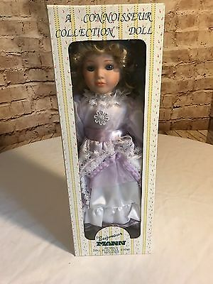 """Seymour Mann """"Violet"""" Porcelain Doll w/ Stand COA New in Box"""