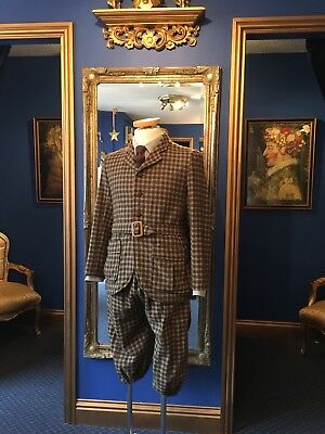 Handsome Men's Theatrical Edwardian Style Plus Fours Suit, Lovely Item!!!