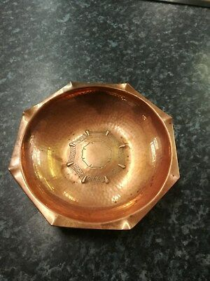 Vintage Arts & Crafts Hand beaten Copper Bowl by L.R.I Borrowdale  Lake District