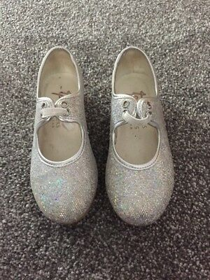 Silver Glitter Tap Shoes Size 9