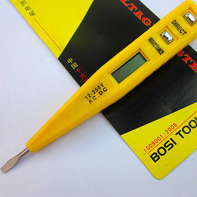 1× LCD Digital AC/DC Voltage Detector Continuity Tester Pen 12-240V ABC