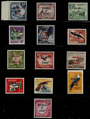 Nauru 1968 Pictorials SS Overprinted REPUBLIC OF NAURU - MLH