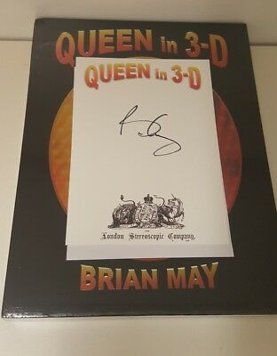 Brian May - Queen In 3D - Signed 1st Edition HB - New - Free Delivery -