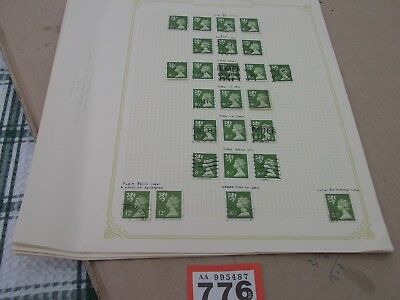 GB regional Stamps 7 pages Queen Elizabeth Machins minor flaws used 776