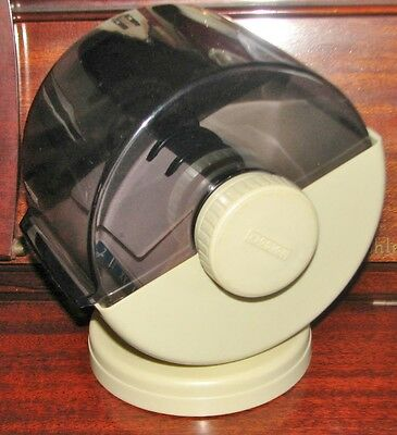 """Vtg ROLODEX File Covered Swivel Rotary Beige NSW-24C USA - 2 x 4"""" Cards"""
