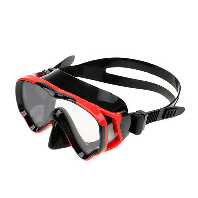 Youth Kids Silicone Scuba Snorkeling Dive Mask Tempered Glass Lens Swim Goggles