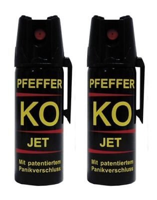 Pepper KO JET KO-Spray -KO 2x 50 ml pepper jet peperoncino !-