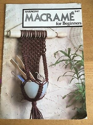 Harmony Macrame For Beginners Pattern Booklet 17 Patterns  Clear & Informative