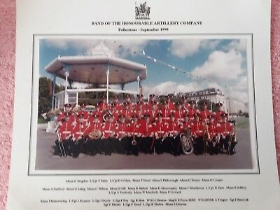 Two Large Named photos of the band of the Honourable Artillery Major David Pryce
