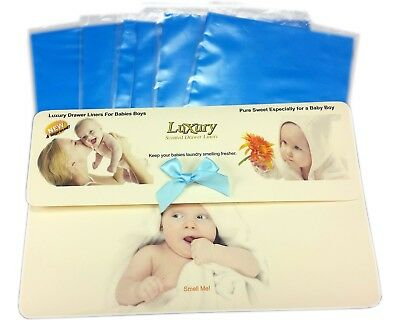 Baby Boy Scented Drawer Liners, Gift Pack of 6, Baby Shower Gift