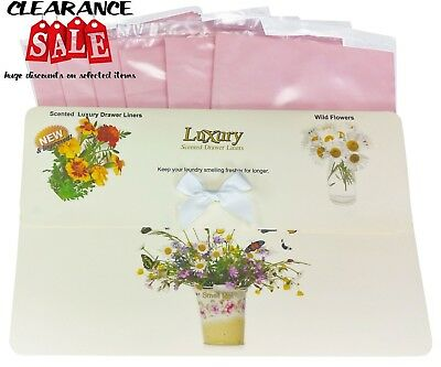 Wild FlowersScented Drawer Liners, Gift Pack of 6, Ideal Christmas Gift