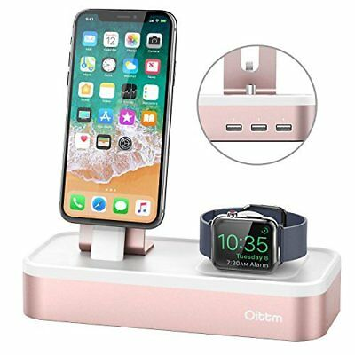 Apple Watch Stand iWatch/iPhone/iPad/iPod Charging Dock 5-Port USB Charger Rose