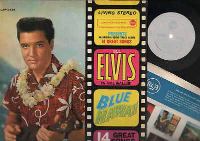 Lp Elvis Presley Blue Hawaii Made In Italy Rca Living Stereo Promo White Label