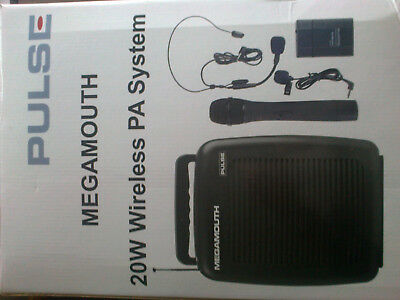 Pulse megamouth wireless PA system with bag