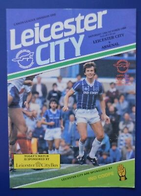 Leicester City v Arsenal League Division One 1984 Football Programme