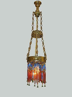 A French arts & crafts beaded lantern. Circa 1900