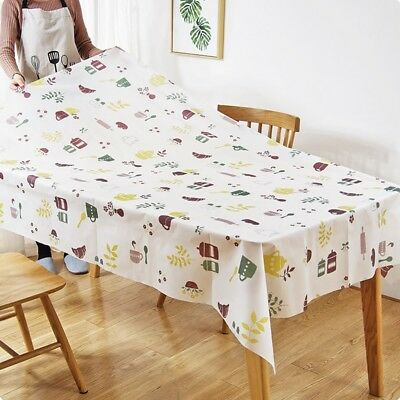 Household PEVA Dining Table Cover Flower Tablecloth Table Birthday Party Supplie