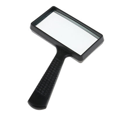Handheld Rectangular 3x Magnifier Reading Jewelry Magnifying Glass Loupe
