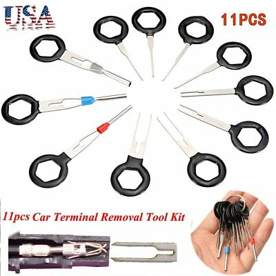 11*Connector Pin Extractor Kit Terminal Removal Tool Car Electrical Wiring Cri@@