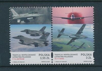 LH24703 Poland aviation aircraft airplanes block of 4 MNH