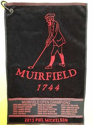 Muirfield Open Champions Golf Towel