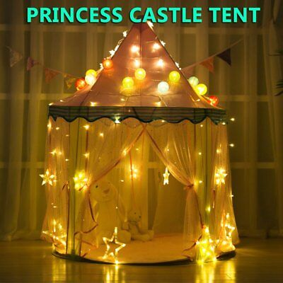 Princess Castle Girls Play Tent Childrens Kids Teepee Play House Indoor Gift ON