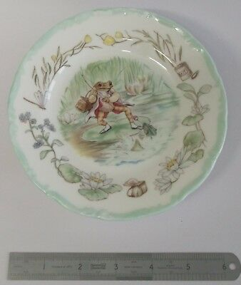Royal Albert Beatrix Potter Jeremy Fisher tea time collection plate bone china