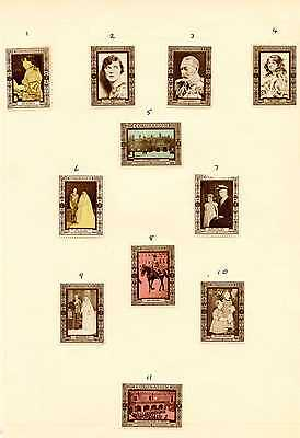 39 Cinderella stamps commemorating the Coronation of King George VI in 1937.