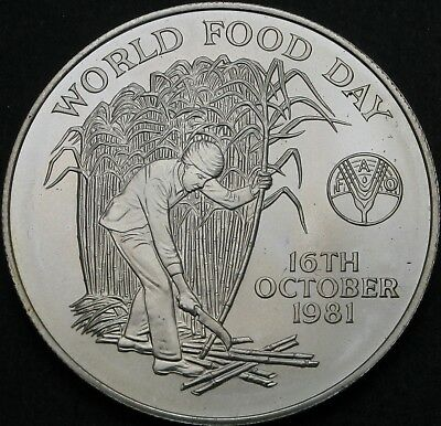 MAURITIUS 10 Rupees 1981 - Silver - FAO World Food Day - aUNC - 893 ¤