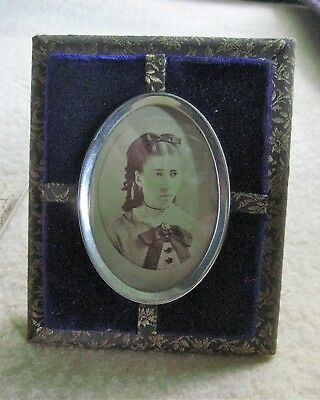 Victorian Era Velvet And Brocade Photograph Picture Frame