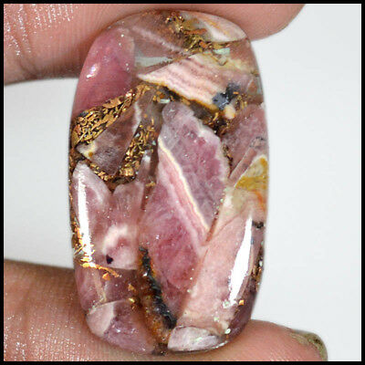 28.14Cts NATURAL SUPERB COPPER RHODOCHROSITE CUSHION CABOCHON GEMSTONES 20-B