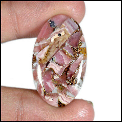 COPPER Rhodochrosite CABOCHON 26.00 Cts NATURAL OVAL GEMSTON 06-C