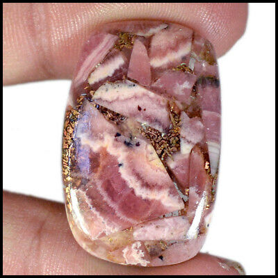 Copper Rhodochrosite Cabochon 32.58 Cts Natural Cushion Cushion Gemstone 07-F