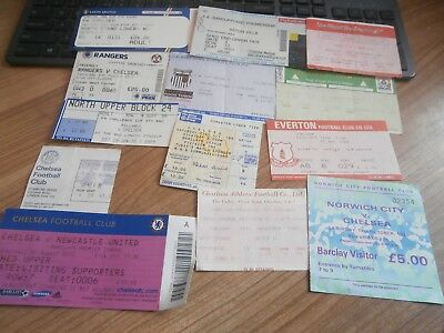 Small Collection Of Chelsea Home Away Match Ticket Stubs