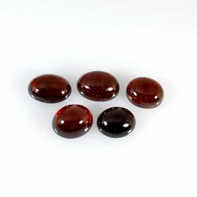 Hessonite Garnet Cabochon 52.98Cts Natural Oval Mix lot 5Pcs Gemstone 31-38