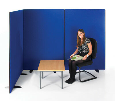 Office Privacy Display Floor Screen/Divider/Partition 1500 x 1200mm BLUE(462640)