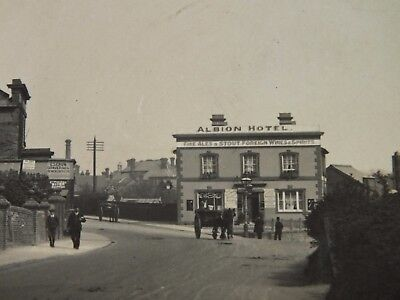 1914 RP Postcard ALBION HOTEL EAST STREET FARNHAM SURREY Stamp AS IS